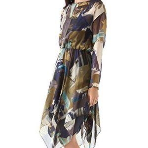 Anthropologie Dress Yigal Cut25 Handkerchief Hem